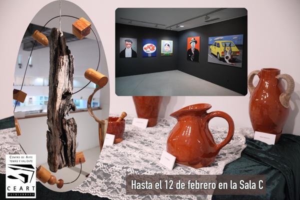 Pintura y escultura en la sala C del CEART