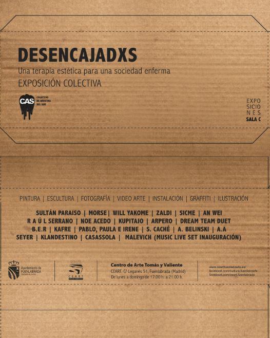 """Colectivo de Artistas del Sur C.A.S """"DESENCAJADXS"""" – Del 27 de abril al 20 de mayo de 2017. SALA COLECTIVOS"""