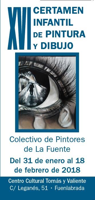 """COLECTIVO DE PINTORES LA FUENTE """"XVI Concurso de Pintura Infantil"""" – Del 31 enero al 18 de febrero de 2018. SALA COLECTIVOS"""