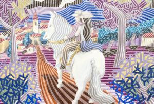 """JAVIER ORTAS Sala C Del 10 al 29 enero de 2019  Javier Ortas crea sus obras sin utilizar ningún modelo ni referencia visual alguna. Considera que """"pintar con la […]"""