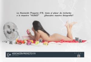 Asociación Fotográfica Proyecto F9 «NUDES». SALA COLECTIVOS Del 6 al 25 de junio de 2019 Desde la Asociación Fotográfica Proyecto F9 queremos realizar una exposición basada en la belleza del […]