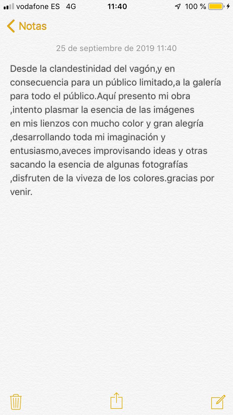 MIGUEL ÁNGEL MORGADO ORTEGA Del 28 de noviembre al 17 de diciembre de 2019. SALA C
