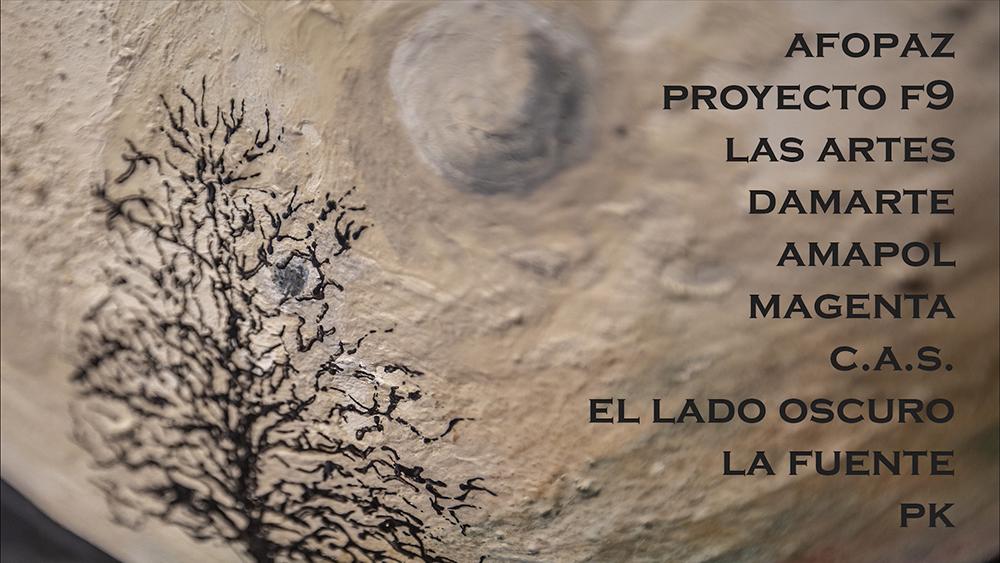 Exposición de Navidad de los colectivos de artes plásticas y visuales de Fuenlabrada en la Sala C del CEART